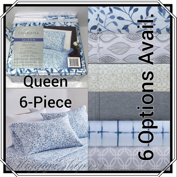 Charisma Microfiber 6-Piece Queen Sheet Set